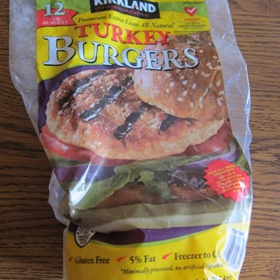 costco kirkland frozen turkey burger patties package