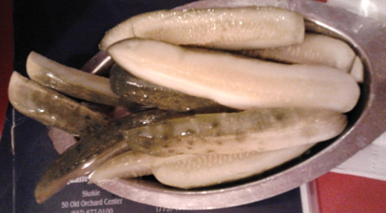 pickles at the bagel restaurant