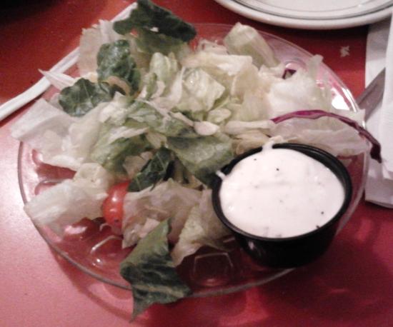 side salad at the bagel restaurant