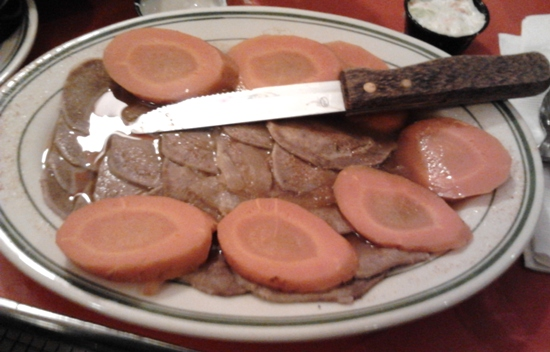 sliced boiled beef tongue