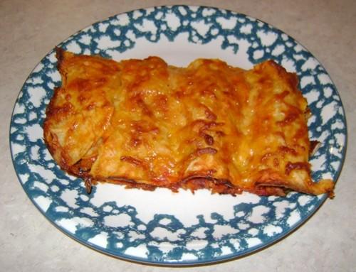 Vegetarian Black Bean And Cheese Enchiladas