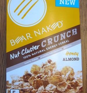 bear naked nut cluster crunch cereal package