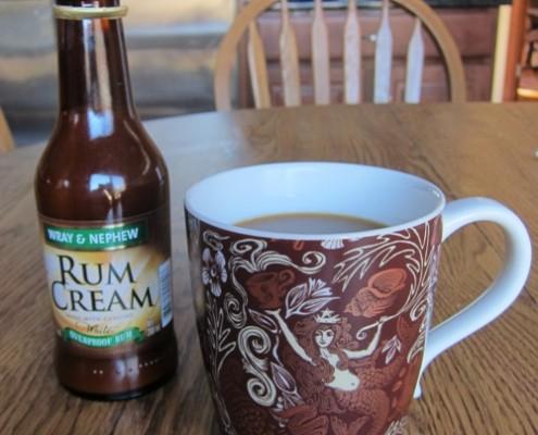coffee and white rum cream liquer