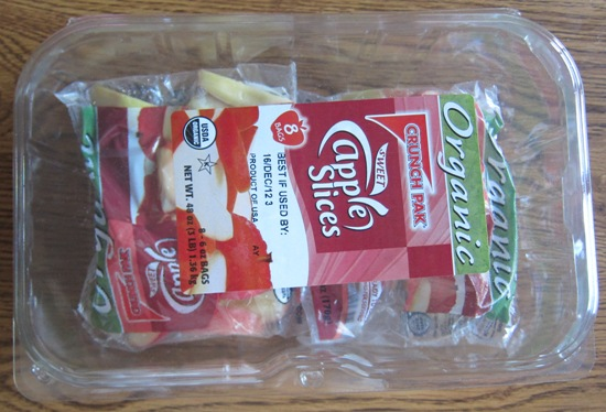 costco package crunch pak organic apple slices
