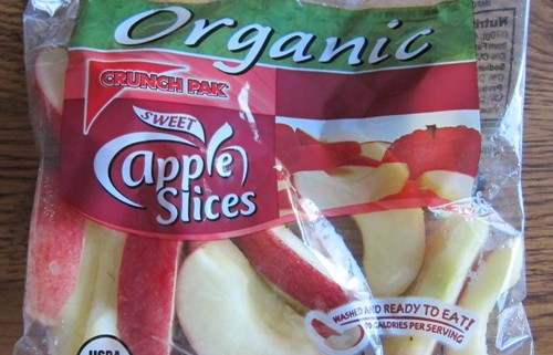 bag of organic apple slices from costco