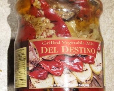 del destino grilled vegetable mix jar