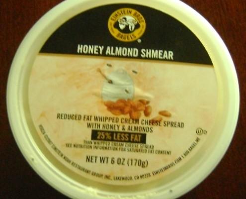 einsten bros bagels honey almond cream cheese