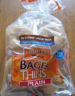 package of Thomas Bagel Thins from Costco
