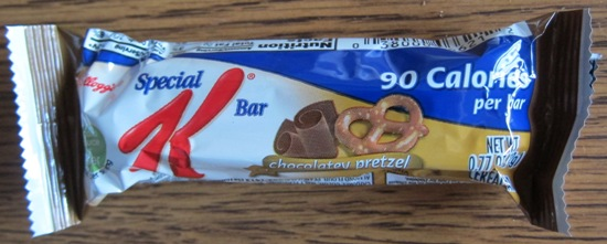 special k chocolatey pretzel bar wrapper