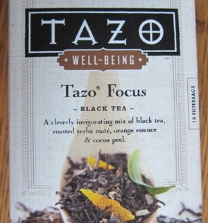 tazo focus black tea package