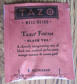 tazo focus black tea teabag