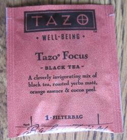 tazo focus black tea teabag