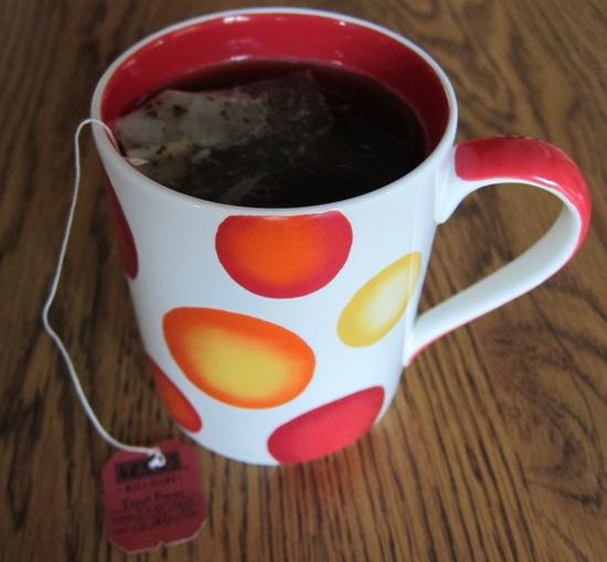 cup of tazo tea brewed