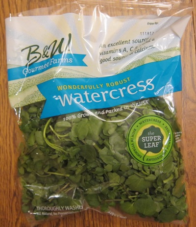 watercress package from Whole Foods
