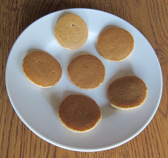 mini pancakes on the plate