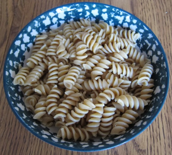 bowl of whole wheat pasta