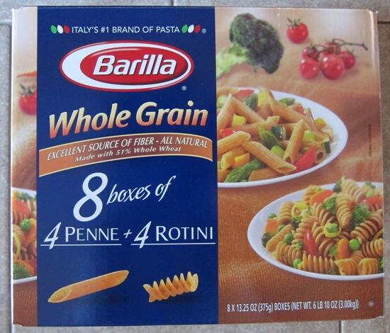 whole grain pasta barilla costco package