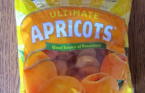 costco dried apricots package