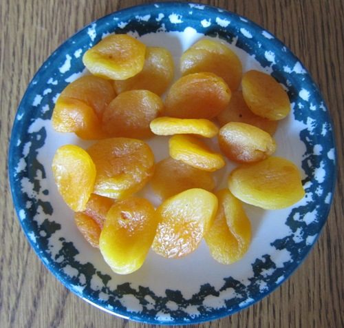 costco mariani dried apricots on a plate