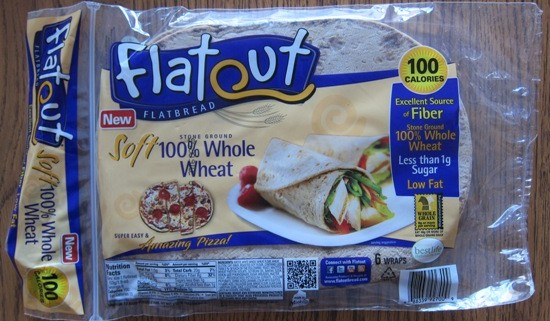 flatout whole wheat flatbread wraps Costco package
