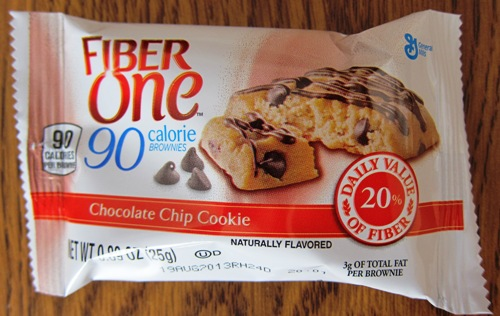 fiber one 90 calorie chocolate chip cookie brownie