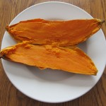 microwaving a sweet potato