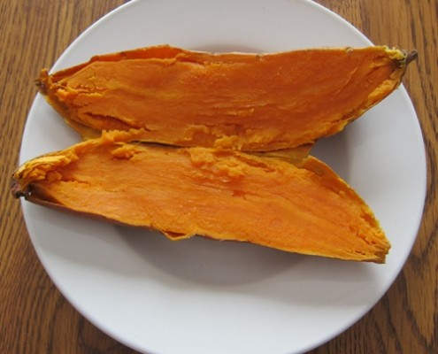 microwaving a sweet potato