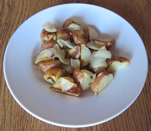 roasted potatoes and onions recipe