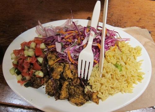 roti restaurant chicken plate