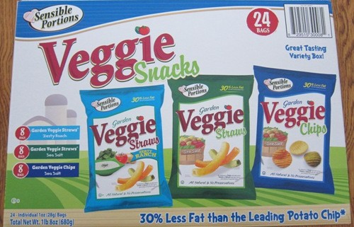 veggie snacks chips costco package