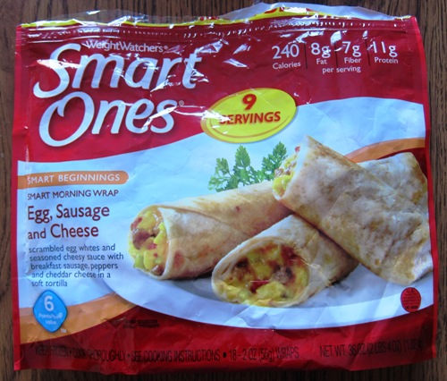 Weight Watchers Smart Ones Egg Sausage Cheese Morning Wrap Costco Package