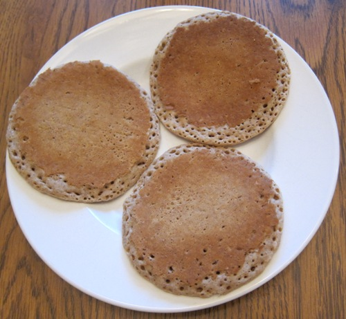 whole foods organic whole wheat pancakes on a plate