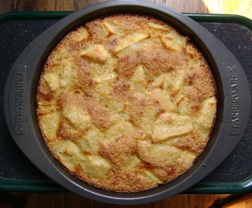 freshly baked apple cake picture