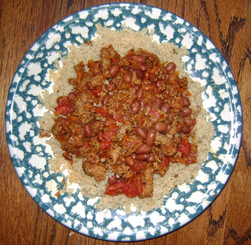 chili con carne on a plate