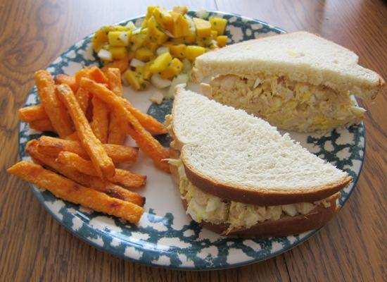 Dinner Chicken Salad Chicken Salad Sandwich With