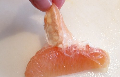 peeling grapefruit