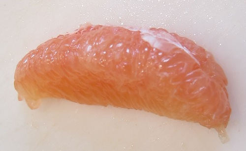 peeled skinless grapefruit
