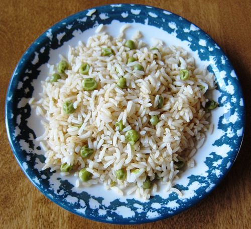 how to make rice recipe with green peas
