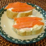 smoked salmon and cream cheese sandwich