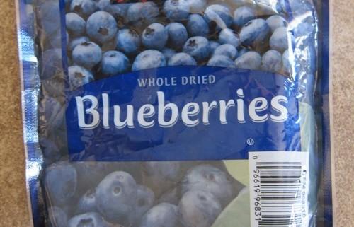costco kirkland dried blueberries package