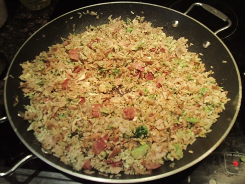fried rice recipe using turkey deli meat slices