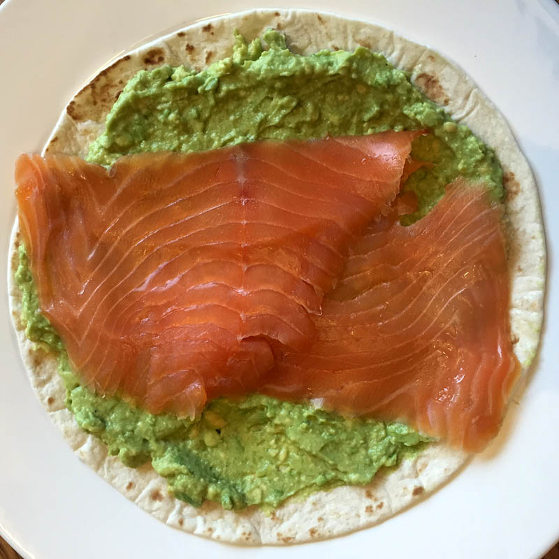 How To Make Smoked Salmon Avocado Wrap