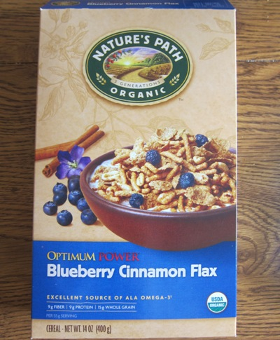 nature's path organic blueberry cinnamon flax cereal