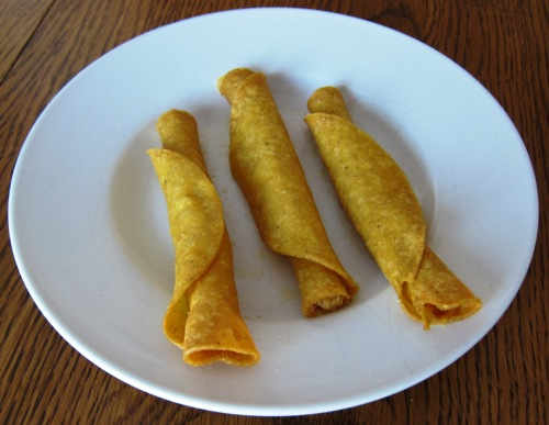 cooked chicken taquitos