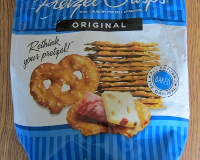 pretzel crisps costco package - pretzel chips