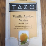 tazo vanilla apricot white tea package