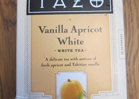 tazo vanilla apricot white tea package