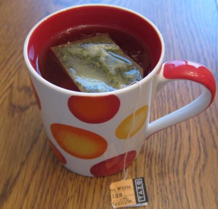 cup of tazo white tea