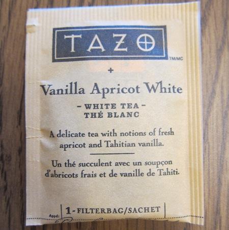 tazo vanilla apricot white tea individual