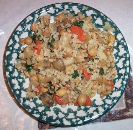 vegan brown rice pilaf main dish
